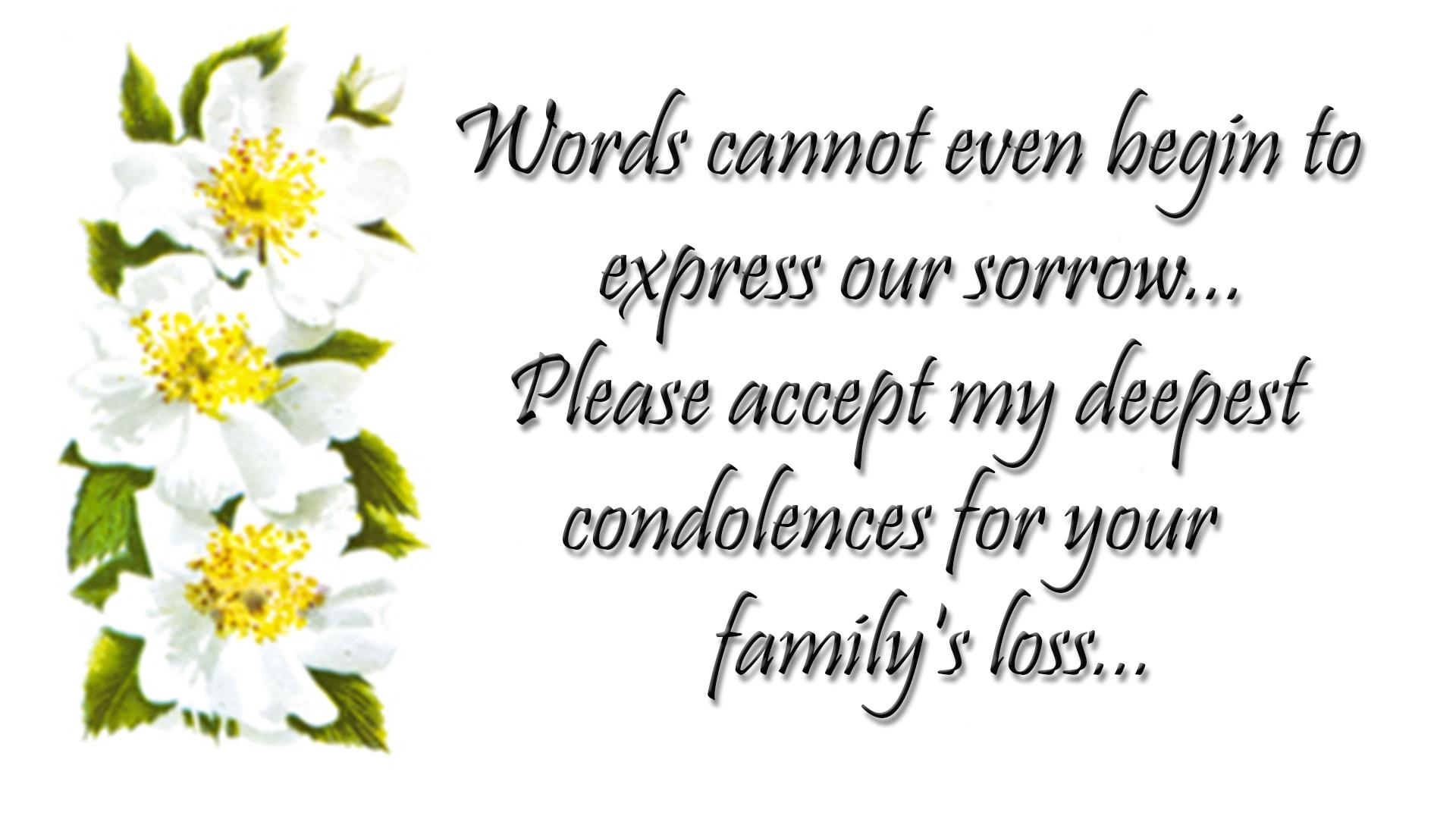 Condolences Quotes & Sympathy Messages Images Free Download